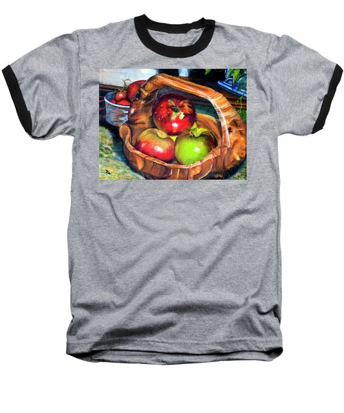 Apples In A Burled Bowl Baseball T-Shirt