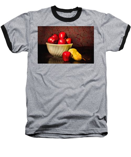 Apples In Bowl With Pear Baseball T-Shirt