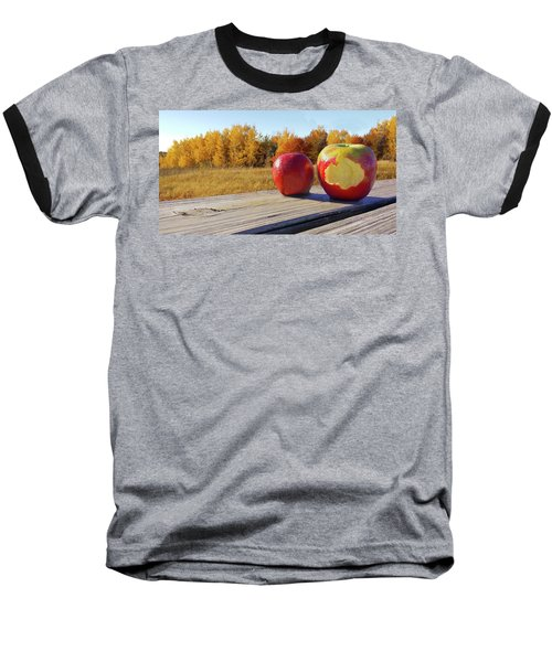 Apples On A Hayride Baseball T-Shirt