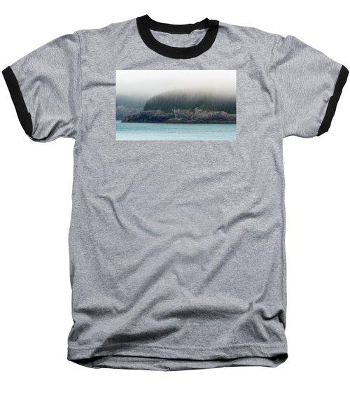 Approaching Glacier Bay Alaska Baseball T-Shirt by Allan Levin