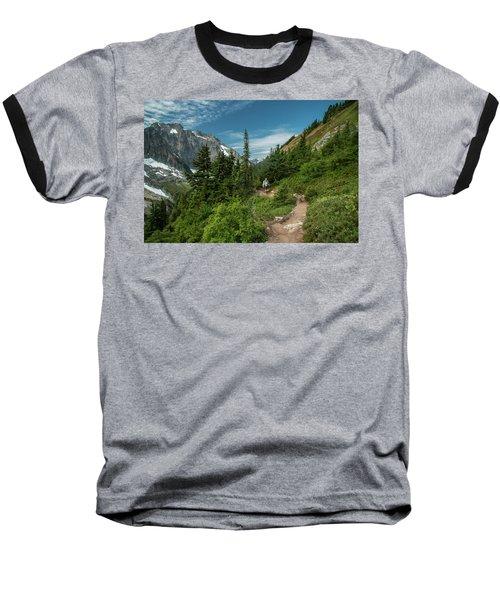 Approaching Sahale Arm Baseball T-Shirt