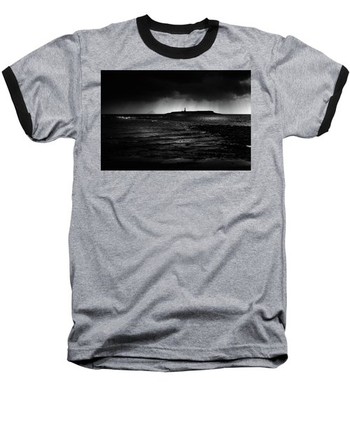Approaching Storm, Ailsa Craig And Pladda Island Baseball T-Shirt