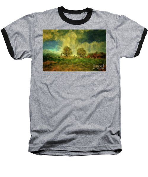 Baseball T-Shirt featuring the digital art Approaching Storm At Antietam by Lois Bryan