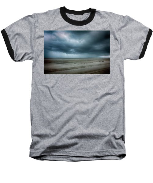 Approaching Storm On Ocracoke Outer Banks Baseball T-Shirt by Dan Carmichael