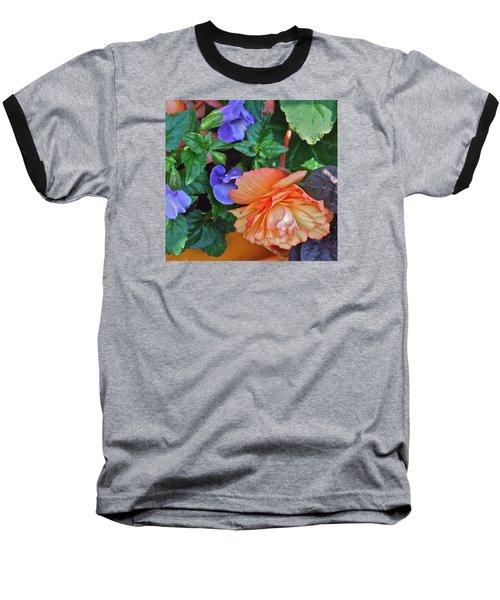 Apricot Begonia 1 Baseball T-Shirt by Janis Nussbaum Senungetuk