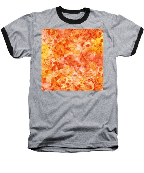 Baseball T-Shirt featuring the painting Apricot Delight  by Patricia Lintner
