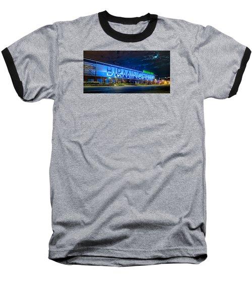 April 2015 -  Birmingham Alabama Baseball Regions Field At Night Baseball T-Shirt by Alex Grichenko