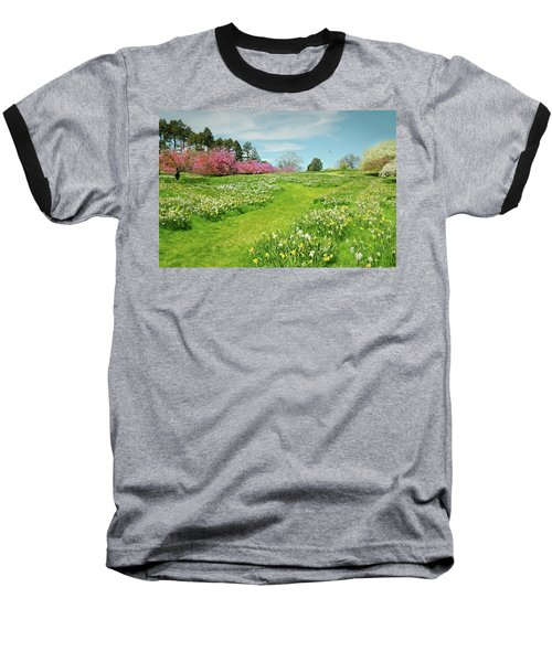 Baseball T-Shirt featuring the photograph April Days by Diana Angstadt