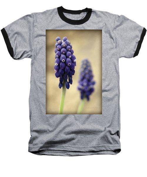 Baseball T-Shirt featuring the photograph April Indigo by Chris Berry