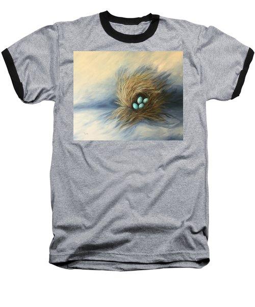April Nest Baseball T-Shirt by Torrie Smiley