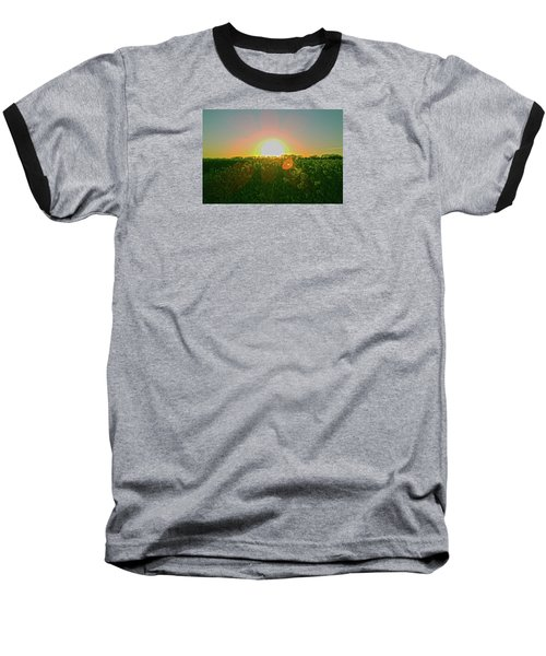 Baseball T-Shirt featuring the photograph April Sunrise by Anne Kotan