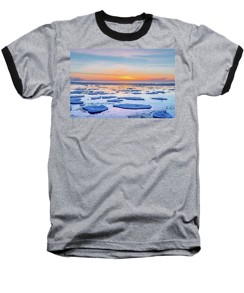 April Sunset Over Lake Superior Baseball T-Shirt