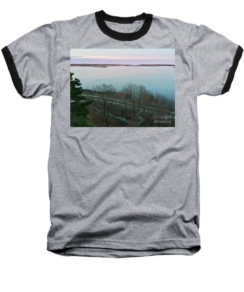 April Twilight On Casco Bay Baseball T-Shirt