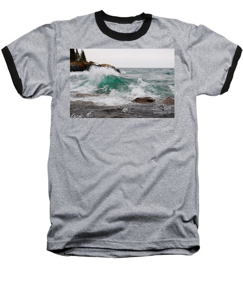 April Waves On Superior Baseball T-Shirt by Sandra Updyke