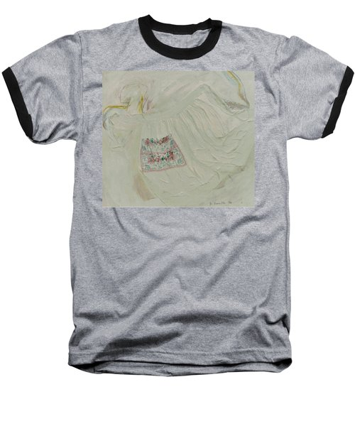 Apron On Canvas - Mixed Media Baseball T-Shirt