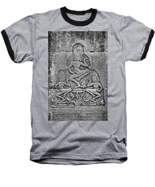 Baseball T-Shirt featuring the photograph Apsaras 3, Angkor, 2014 by Hitendra SINKAR