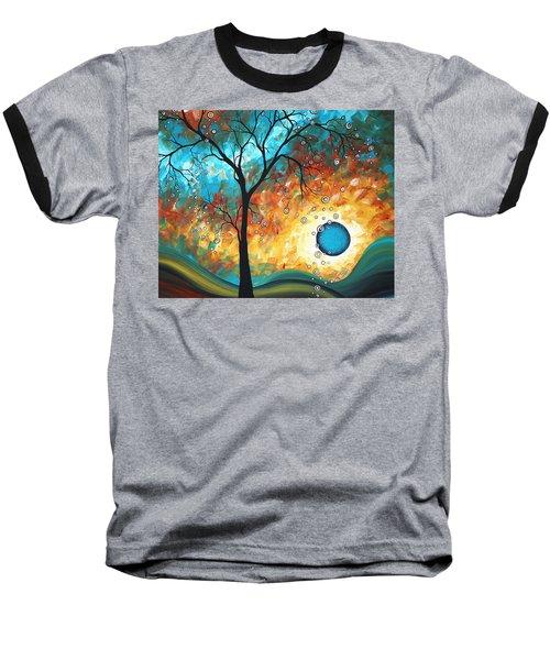 Aqua Burn By Madart Baseball T-Shirt