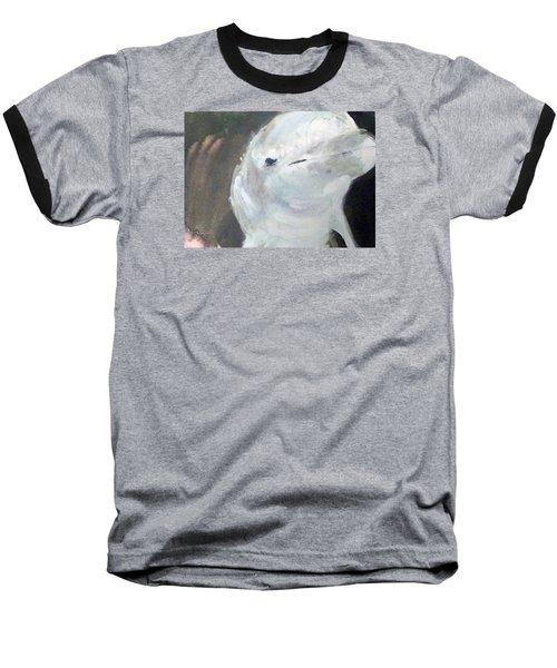 Baseball T-Shirt featuring the painting Aqua by Ed Heaton