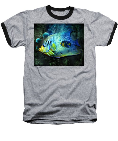 Aqua Fantasy Art World Baseball T-Shirt
