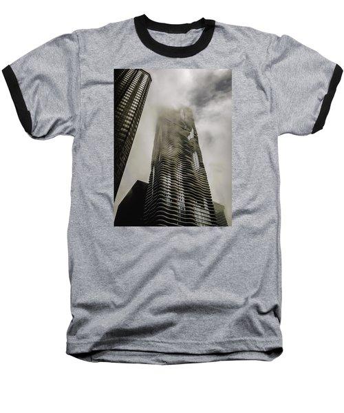 Aqua Skyscraper Baseball T-Shirt