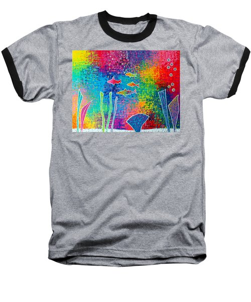 Aquarium Baseball T-Shirt by Jeremy Aiyadurai