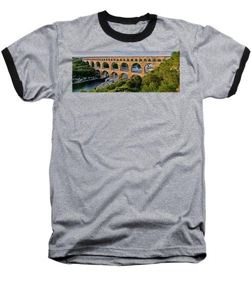 Aqueduct Pont Du Gard Baseball T-Shirt