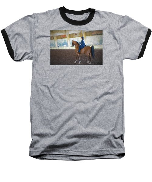 Arabian Dressage Baseball T-Shirt by Louis Ferreira