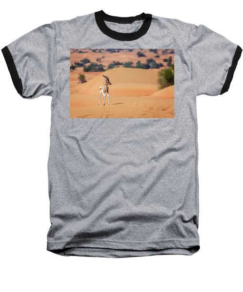 Baseball T-Shirt featuring the photograph Arabian Gazelle by Alexey Stiop