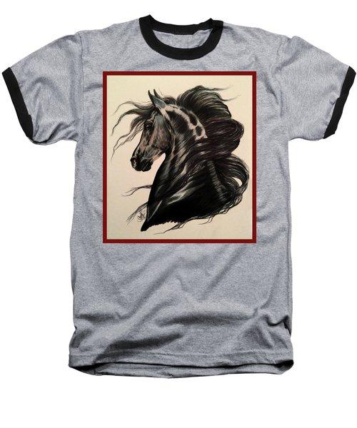 Arabian Grey On A Stormy Night Baseball T-Shirt