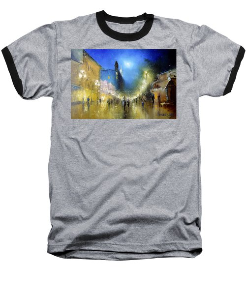 Arbat Night Lights Baseball T-Shirt