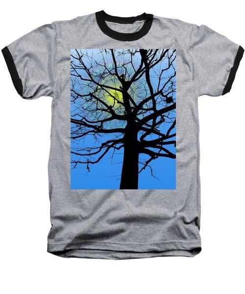 Arboreal Sun Baseball T-Shirt by Tim Allen