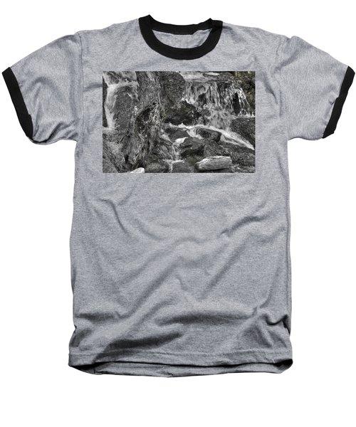 Arboretum Waterfall Bw Baseball T-Shirt