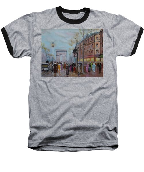 Arc De Triompfe - Lmj Baseball T-Shirt by Ruth Kamenev