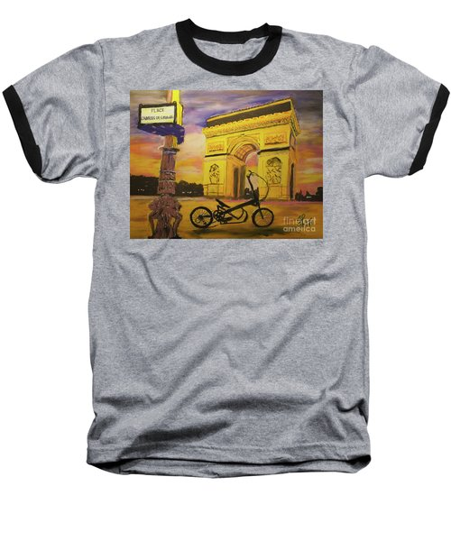 Arc De Triomphe Baseball T-Shirt