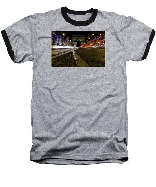 Arc D'triumph With Stripes Baseball T-Shirt