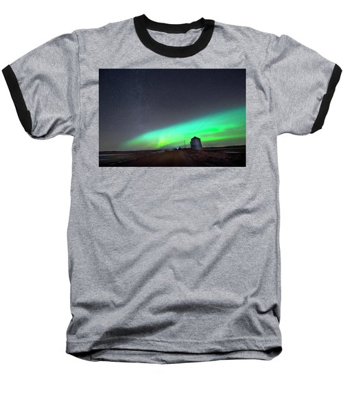 Arc Of The Aurora Baseball T-Shirt by Dan Jurak