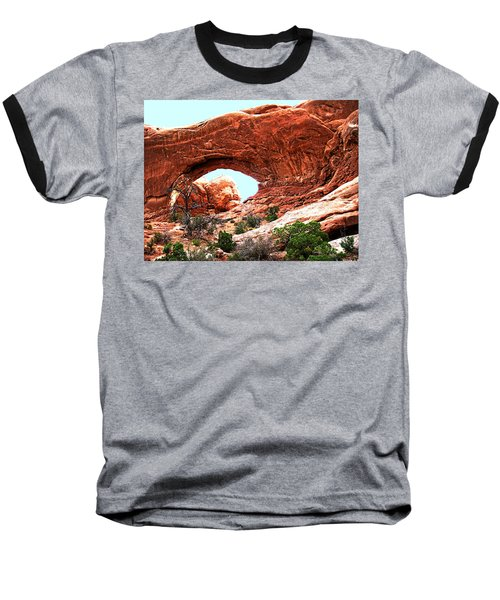 Baseball T-Shirt featuring the digital art Arch Face by Gary Baird