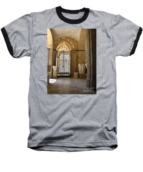 Arch Of Public Library Brindisi Italy Baseball T-Shirt