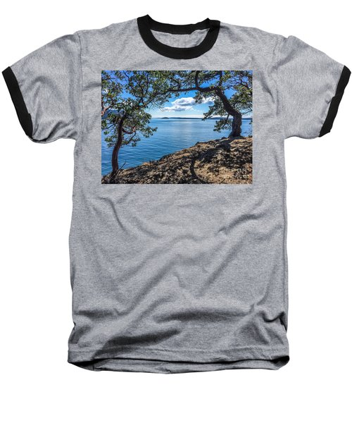 Arch Of Trees Baseball T-Shirt by William Wyckoff
