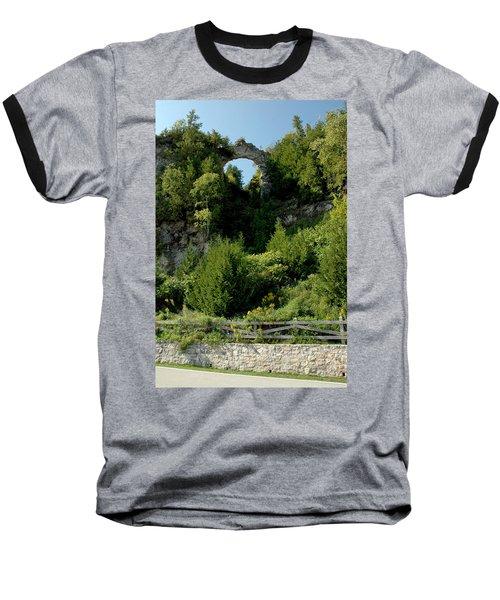 Baseball T-Shirt featuring the photograph Arch Rock Mackinac Island by LeeAnn McLaneGoetz McLaneGoetzStudioLLCcom