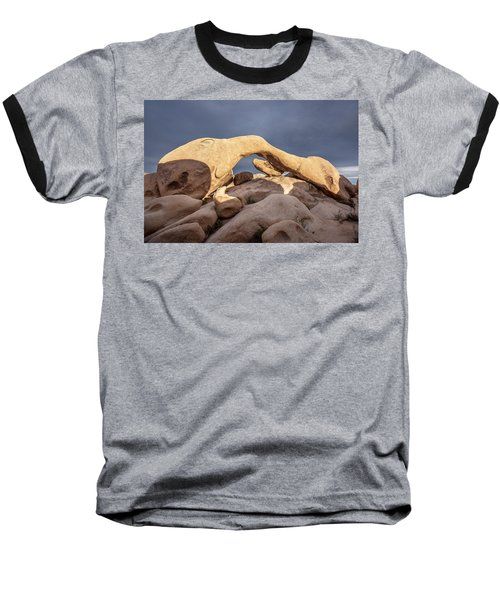 Arch Rock Panorama In Joshua Tree Baseball T-Shirt by Joe Belanger