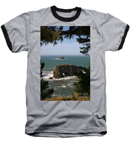 Arch Rock View Baseball T-Shirt by Marie Neder
