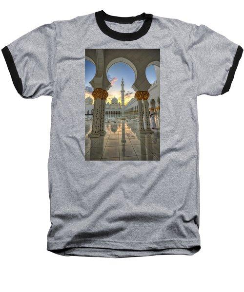 Arch Sunset Temple Baseball T-Shirt