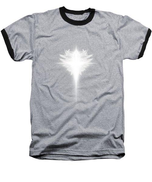 Archangel Cross Baseball T-Shirt by James Larkin