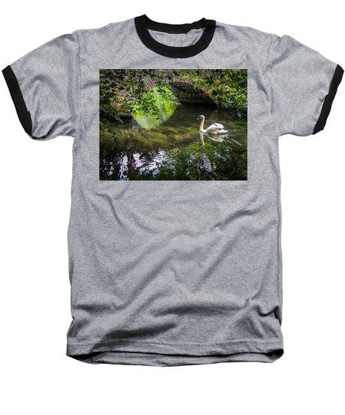Arched Bridge And Swan At Doneraile Park Baseball T-Shirt