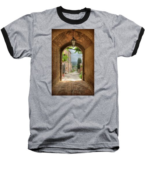 Arched View Baseball T-Shirt by Uri Baruch