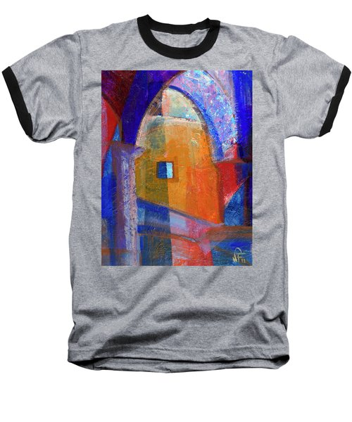 Arches And Window Baseball T-Shirt by Walter Fahmy