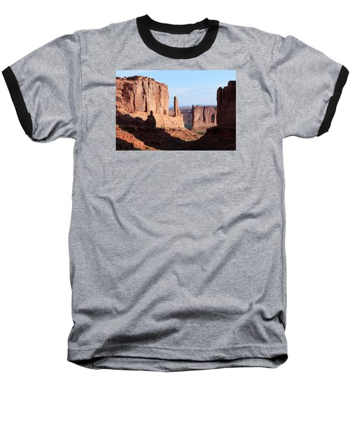 Baseball T-Shirt featuring the photograph Arches Morning by Elizabeth Sullivan