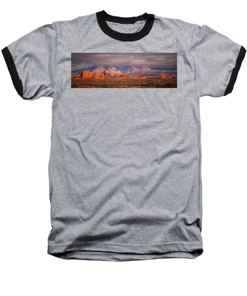 Arches National Park Pano Baseball T-Shirt