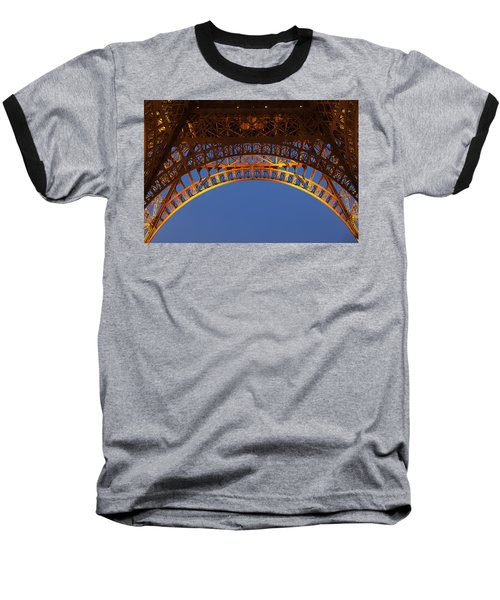 Baseball T-Shirt featuring the photograph Arches Of The Eiffel Tower by Andrew Soundarajan